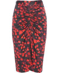 Givenchy - Printed Skirt - Lyst