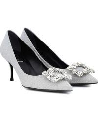 Roger Vivier - Flower Strass Glitter Court Shoes - Lyst