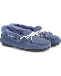 Tod's - City Gommino Suede Loafers - Lyst