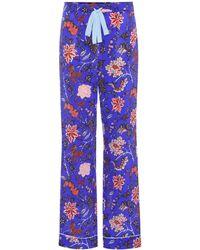 Diane von Furstenberg - Printed Silk Trousers - Lyst