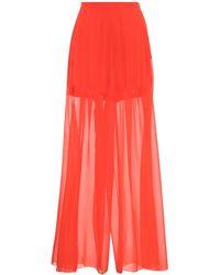 Delpozo - Wide-leg Silk Trousers - Lyst