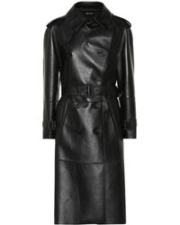 Maison Margiela - Faux Leather Trench Coat - Lyst