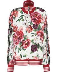 Dolce & Gabbana - Floral-printed Cady Track Jacket - Lyst
