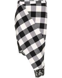 Altuzarra - Vichy Gingham Wool-blend Skirt - Lyst