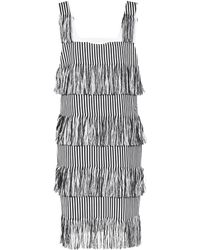 Prism - Nevis Fringed Cotton Dress - Lyst