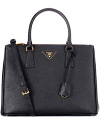 c8e5c79a0e78 Lyst - Prada Saffiano Leather Shopper Tote Bag in Black
