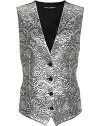 Dolce & Gabbana - Chaleco de jacquard metalizado - Lyst