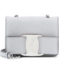 Ferragamo - Vara Mini Metallic Shoulder Bag - Lyst