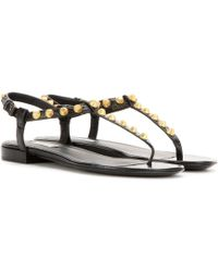 Balenciaga - Giant Stud Leather Sandals - Lyst