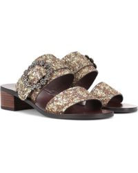 See By Chloé - Embellished Leather Sandals - Lyst