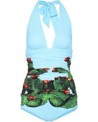 Dolce & Gabbana - Exclusive To Mytheresa. Com – Printed Swimsuit - Lyst