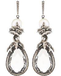 Alexander McQueen | Crystal-embellished Earrings | Lyst