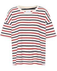 Current/Elliott - The Roadie Striped Cotton T-shirt - Lyst