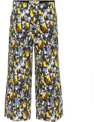 Marni - Cropped Cotton Trousers - Lyst