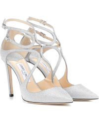 Jimmy Choo - Lancer 100 Glitter Court Shoes - Lyst