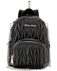 Miu Miu - Matelassé Leather Shoulder Bag - Lyst