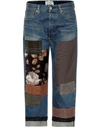 Junya Watanabe - Patchwork Cropped Jeans - Lyst