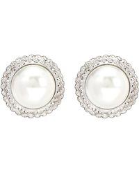Alessandra Rich - Faux Pearl Clip-on Earrings - Lyst