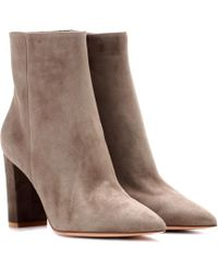 Gianvito Rossi - Exclusive To Mytheresa. Com – Piper Suede Ankle Boots - Lyst