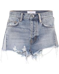 Current/Elliott - The Ultra High Waist Denim Shorts - Lyst