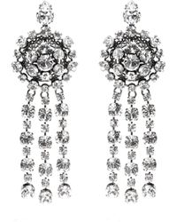 Gucci - Silver-plated Crystal Earrings - Lyst