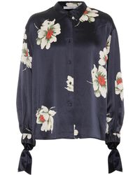 Vince - Floral-printed Silk Blouse - Lyst