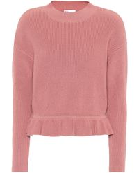 RED Valentino - Knitted Cotton Sweater - Lyst