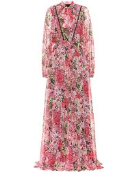 Giambattista Valli - Floral Silk Maxi Dress - Lyst