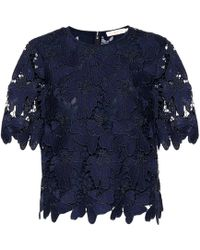 Tory Burch - Nicola Lace Top - Lyst