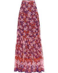 Giambattista Valli - Floral-printed Silk Maxi Skirt - Lyst