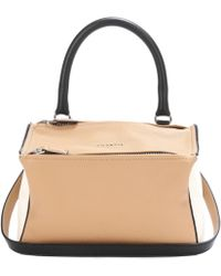 32bf8c2fb1d Lyst - Givenchy Pandora Mini Leather Shoulder Bag in Pink