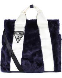 PUMA - Giant Faux-fur Shopper - Lyst