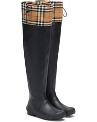Burberry Regenstiefel mit Karomuster
