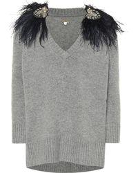 Johanna Ortiz - Feather-trimmed Cashmere Sweater - Lyst