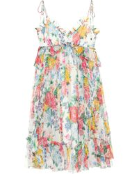 Zimmermann - Exclusive To Mytheresa.com – Floral-printed Silk Dress - Lyst