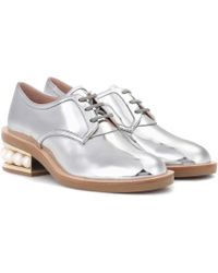 Nicholas Kirkwood - Casati Mirrored Leather Lace-up Shoes - Lyst