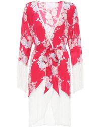 Athena Procopiou - Heartbeats Silk Kimono Top - Lyst