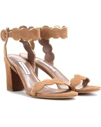 Tabitha Simmons - Cloud Suede Sandals - Lyst