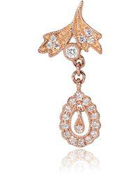 Stone Paris - Favorite 18kt Rose Gold And Diamond Single Earring - Lyst