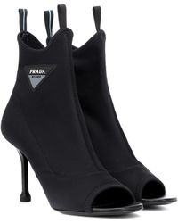 Prada - Stretch-knit Ankle Boots - Lyst