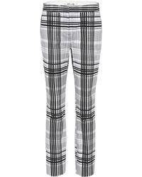 Diane von Furstenberg - Darnley Plaid Cotton Trousers - Lyst