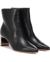 Gabriela Hearst - Raya Leather Ankle Boots - Lyst