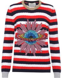 Gucci - Sequinned Wool Sweater - Lyst