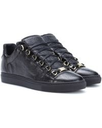 Balenciaga - Arena Leather Trainers - Lyst
