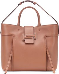 Tod's - Double T Large Leather Shopper - Lyst