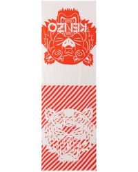 KENZO - Printed Cotton-blend Scarf - Lyst