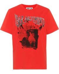 McQ - Printed Cotton T-shirt - Lyst