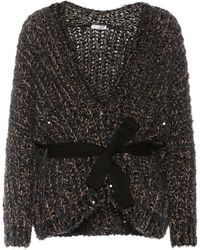 Brunello Cucinelli - Sequinned Cotton-blend Sweater - Lyst