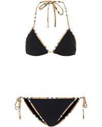 Burberry - Triangel-Bikini - Lyst