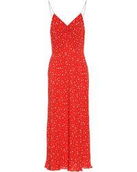 Miu Miu - Star-printed Silk Crêpe Dress - Lyst